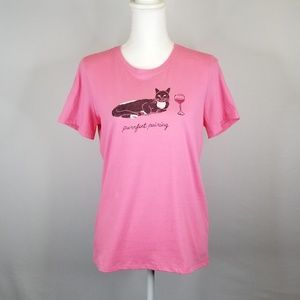 Life is Good Purrfect Pairing Tee-Shirt NWT